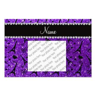 Brillo púrpura de París del eiffek del añil Arte Fotográfico