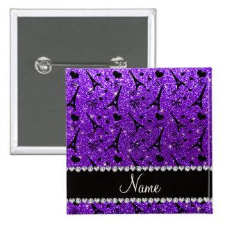 Brillo púrpura de París del eiffek del añil Chapa Cuadrada 5 Cm