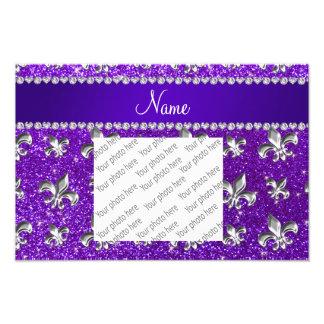 Brillo púrpura del añil conocido de encargo de la fotografía