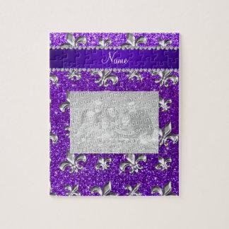 Brillo púrpura del añil conocido de encargo de la puzzle con fotos