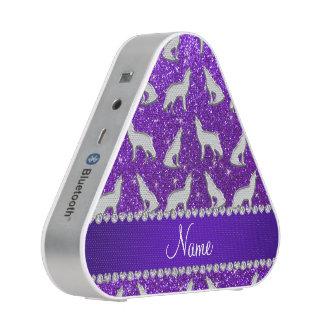 Brillo púrpura del añil de plata conocido de altavoz bluetooth