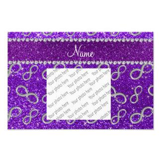 Brillo púrpura del añil de plata conocido de cojinete