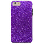 Brillo púrpura del añil funda de iPhone 6 plus tough