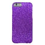 Brillo púrpura del añil funda de iPhone 6 barely there