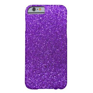 Brillo púrpura del añil funda barely there iPhone 6