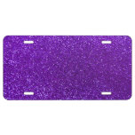 Brillo púrpura del añil placa de matrícula
