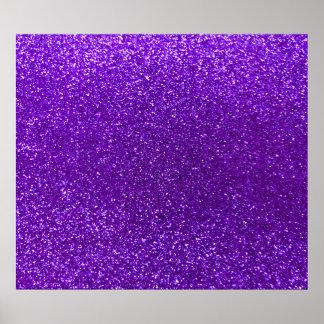 Brillo púrpura del añil póster