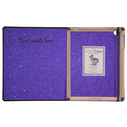 Brillo púrpura del búho de la turquesa iPad cárcasa