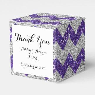 Brillo púrpura del falso del brillo modelo de cajas para regalos