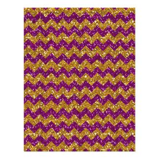 Brillo púrpura del falso del oro del brillo modelo tarjetas informativas