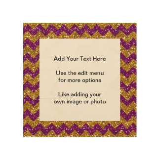Brillo púrpura del falso del oro del brillo modelo cuadros de madera