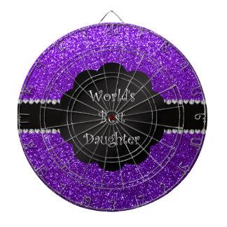 Brillo púrpura del mejor añil de la hija del mundo tablero de dardos