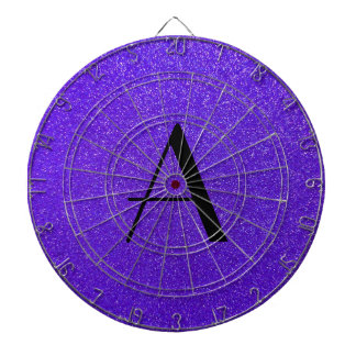 Brillo púrpura del monograma tabla dardos