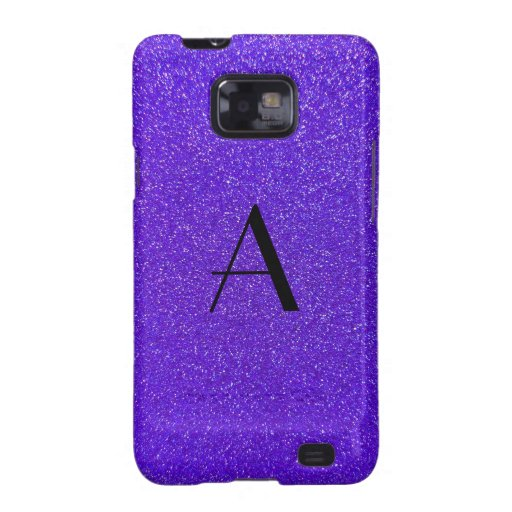 Brillo púrpura del monograma samsung galaxy SII funda