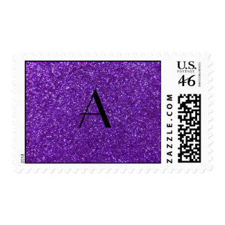 Brillo púrpura del monograma sello