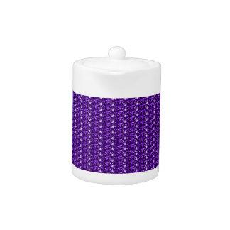 Brillo púrpura del pote del té
