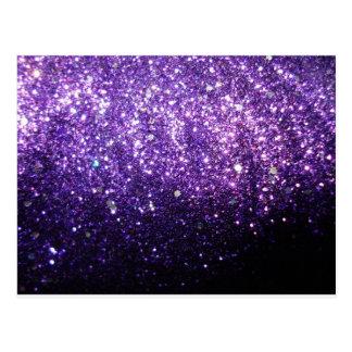 brillo púrpura del resplandor de la chispa del postales