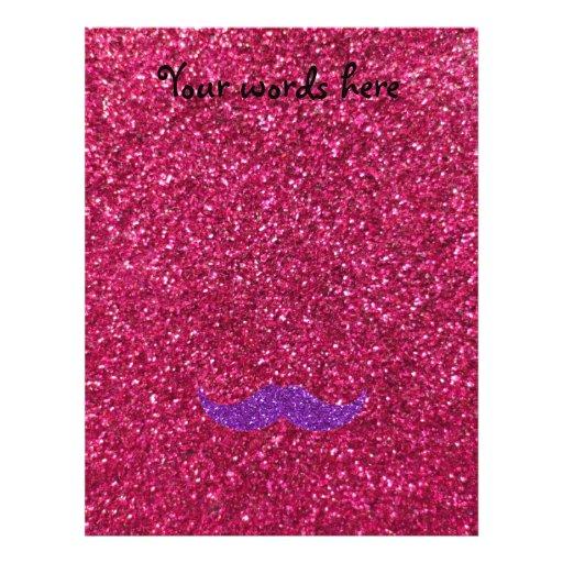 Brillo púrpura del rosa del bigote del brillo tarjetas informativas