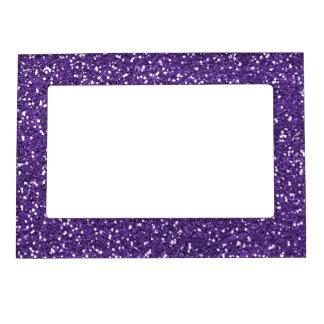 Brillo púrpura elegante marcos magnéticos de fotos