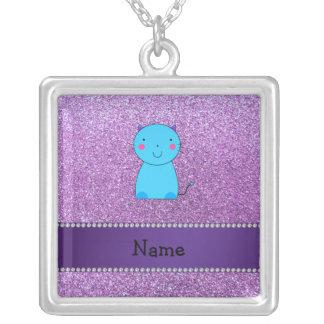 Brillo púrpura en colores pastel conocido personal grímpola