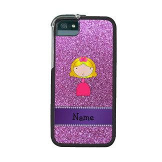 Brillo púrpura en colores pastel personalizado de