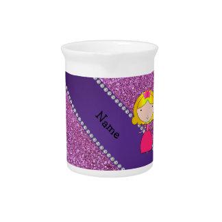 Brillo púrpura en colores pastel personalizado de  jarras de beber