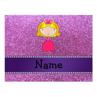 Brillo púrpura en colores pastel personalizado de tarjeta postal