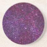 Brillo púrpura fabuloso posavasos manualidades