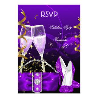 Brillo púrpura fantástico fabuloso de los tacones comunicado