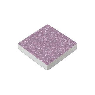 Brillo púrpura impreso imán de piedra