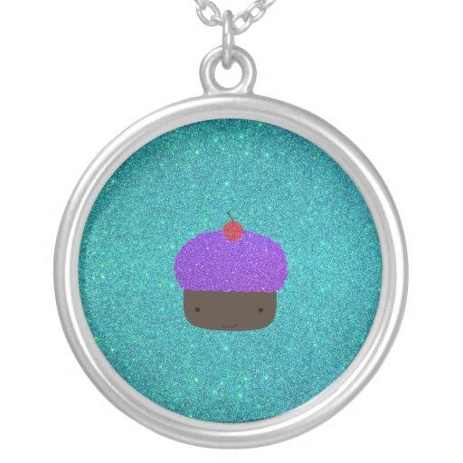 Brillo púrpura lindo de la turquesa de la magdalen colgante redondo