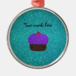 Brillo púrpura lindo de la turquesa de la magdalen ornamentos de reyes