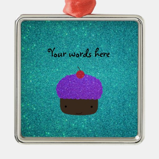 Brillo púrpura lindo de la turquesa de la magdalen ornaments para arbol de navidad
