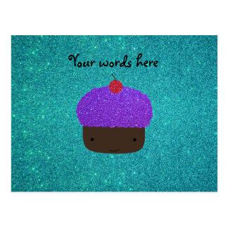 Brillo púrpura lindo de la turquesa de la magdalen tarjeta postal
