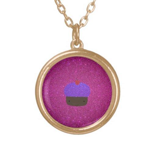 Brillo púrpura lindo del rosa de la magdalena del  colgante redondo