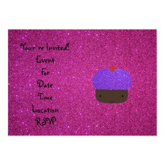 Brillo púrpura lindo del rosa de la magdalena del comunicados