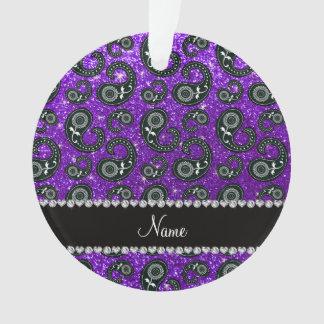 Brillo púrpura Paisley del añil conocido de
