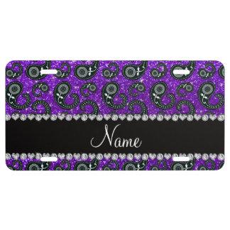 Brillo púrpura Paisley del añil conocido de Placa De Matrícula