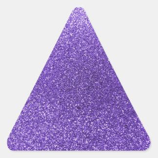 Brillo púrpura pegatina triangular