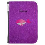 Brillo púrpura personalizado de la ballena rosada