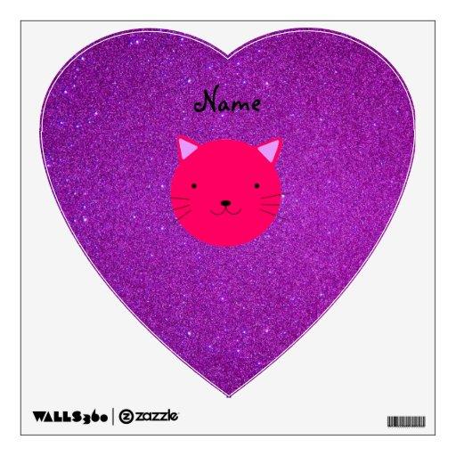 Brillo púrpura personalizado de la cara rosada con