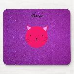 Brillo púrpura personalizado de la cara rosada con alfombrillas de ratón