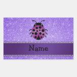 Brillo púrpura personalizado de la mariquita rectangular altavoces
