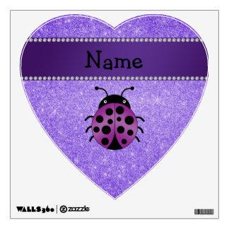 Brillo púrpura personalizado de la mariquita púrpu vinilo adhesivo