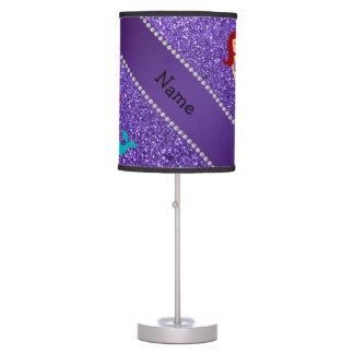 Brillo púrpura personalizado de la sirena conocida lámpara de escritorio