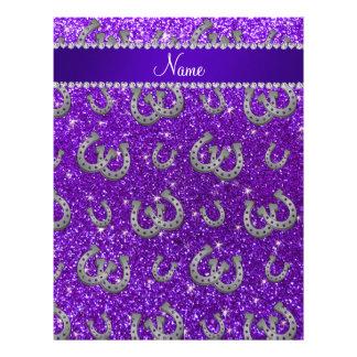 Brillo púrpura personalizado del añil conocido de plantilla de membrete