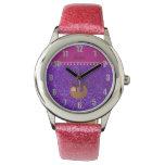 Brillo púrpura personalizado del añil conocido de relojes de mano