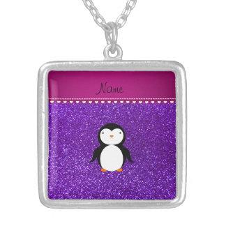 Brillo púrpura personalizado del añil del pingüino grimpolas personalizadas