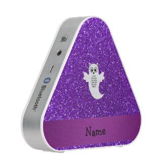 Brillo púrpura personalizado del fantasma conocido altavoz bluetooth