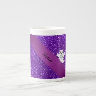 Brillo púrpura personalizado del fantasma conocido taza de porcelana